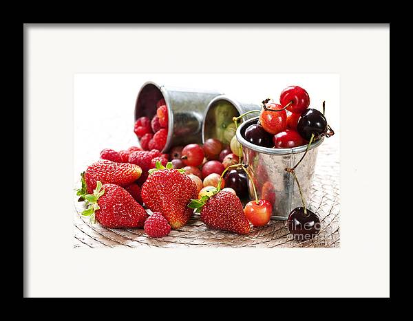 Fruits Framed Print featuring the photograph Fruits And Berries by Elena Elisseeva