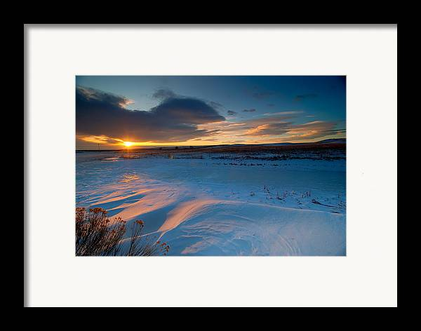 Colorado Framed Print featuring the photograph Ft Collins Snow Sparkles by Preston Broadfoot