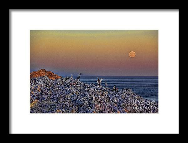 Crete Framed Print featuring the photograph Full Moon Gathering Of Capricorn by Casper Cammeraat