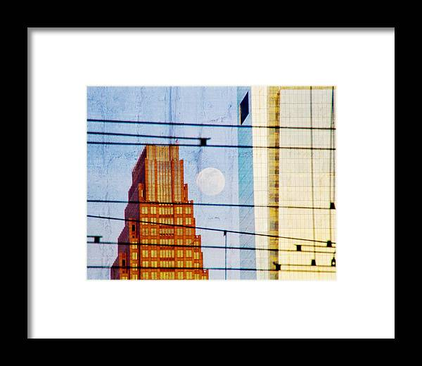 Full Moon Framed Print featuring the photograph Full Moon In The City by Alice Gipson