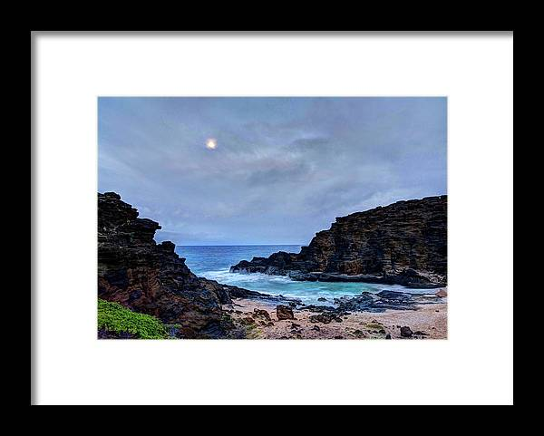 Tranquility Framed Print featuring the photograph Full Moon In The Clouds by Julie Thurston