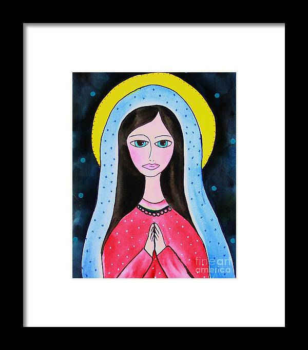 Mary Framed Print featuring the painting Full Of Grace by Melinda Etzold