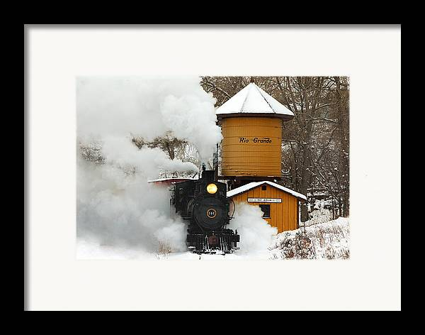 Colorado Railroad Museum Framed Print featuring the photograph Full Steam Ahead by Ken Smith