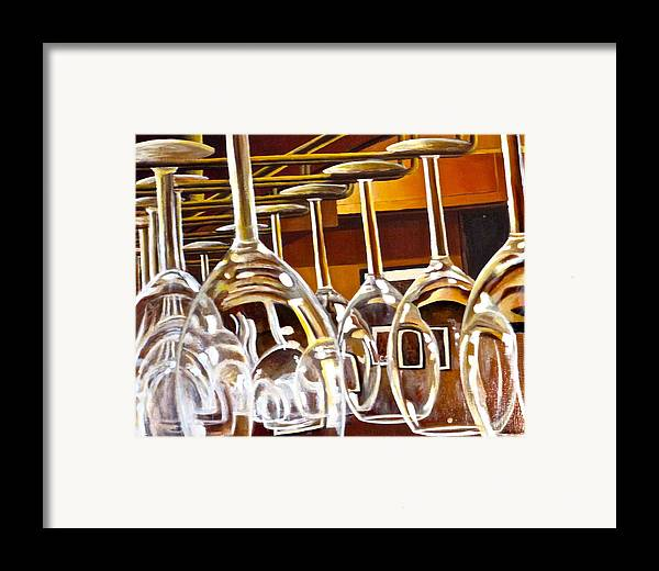 Wine Painting Framed Print featuring the painting Fully Stocked by Tim Eickmeier