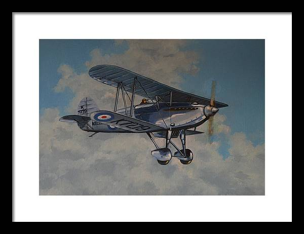 Airplanes Framed Print featuring the painting Fury II Raf by Murray McLeod