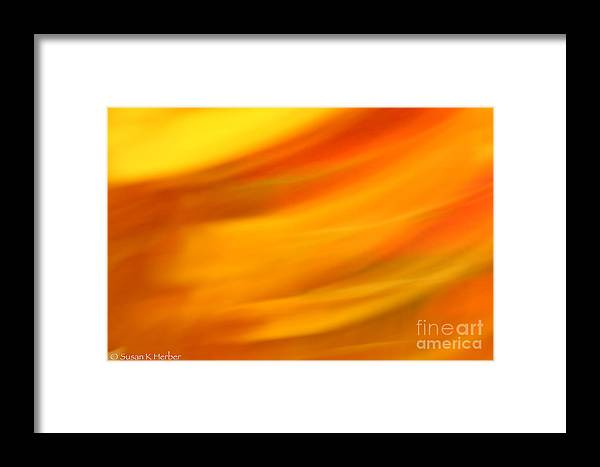 Abstract Framed Print featuring the photograph Fury In Color by Susan Herber