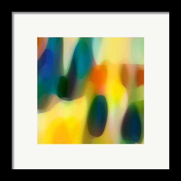 Fury Framed Print featuring the painting Fury Rain 1 by Amy Vangsgard