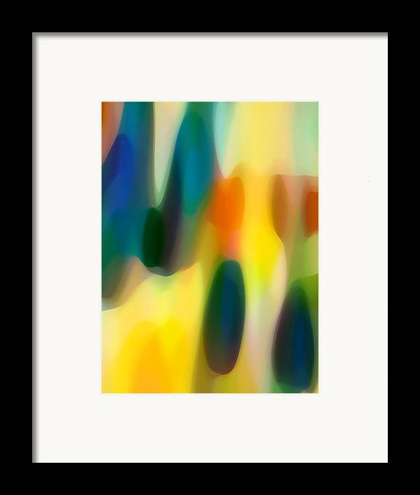 Bold Framed Print featuring the painting Fury Rain 5 by Amy Vangsgard