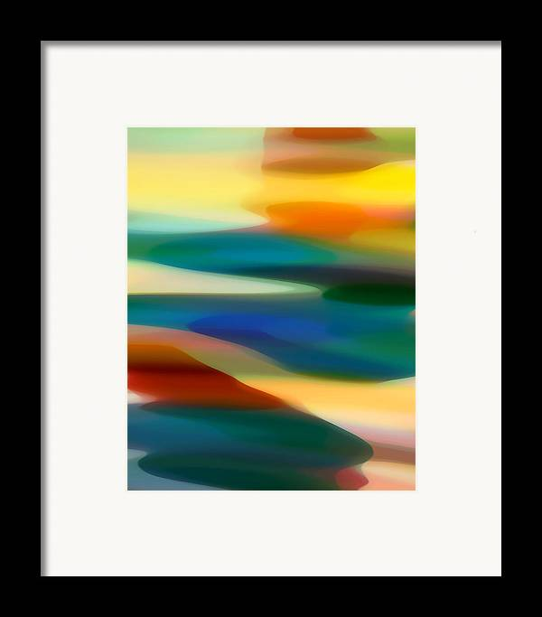 Bold Framed Print featuring the painting Fury Seascape 3 by Amy Vangsgard