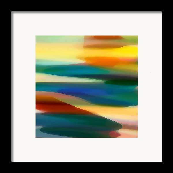 Fury Framed Print featuring the painting Fury Seascape 5 by Amy Vangsgard