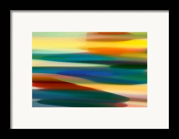 Bold Framed Print featuring the painting Fury Seascape 7 by Amy Vangsgard