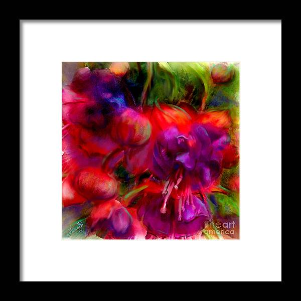 Fuschia Framed Print featuring the painting Fuschia Excitement by Francine Dufour Jones