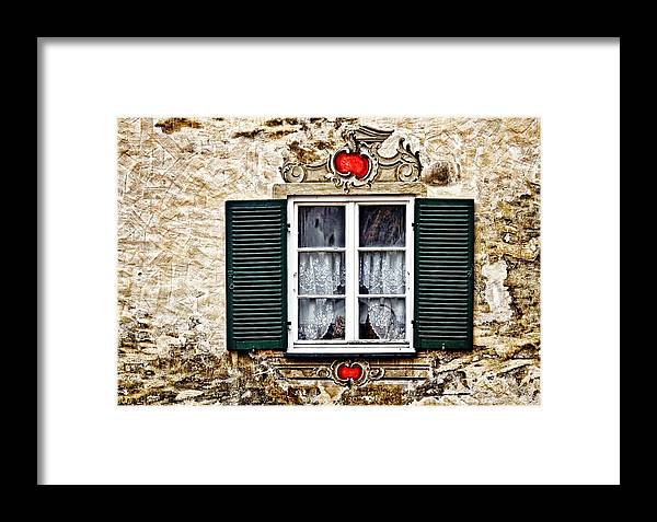 Architecture Framed Print featuring the photograph Fussen Window by Marcia Colelli