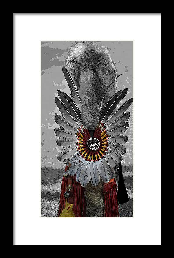 Native American Powwow Framed Print featuring the photograph Future Chief by Clay and Gill Ross