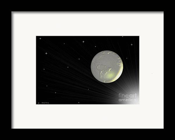 Abstract Framed Print featuring the photograph Future Earth 2 by Cheryl Young