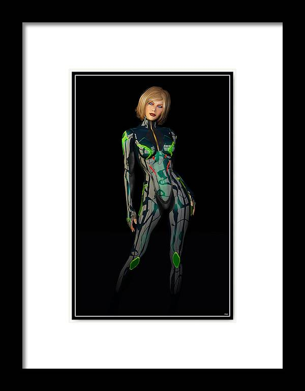 Woman Framed Print featuring the digital art Future Woman... by Tim Fillingim