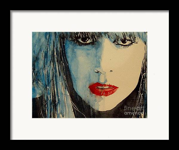 Lady Gaga Framed Print featuring the painting Gaga by Paul Lovering
