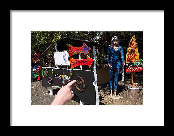Shopping Framed Print featuring the photograph Galapagos Bodega by Allan Morrison