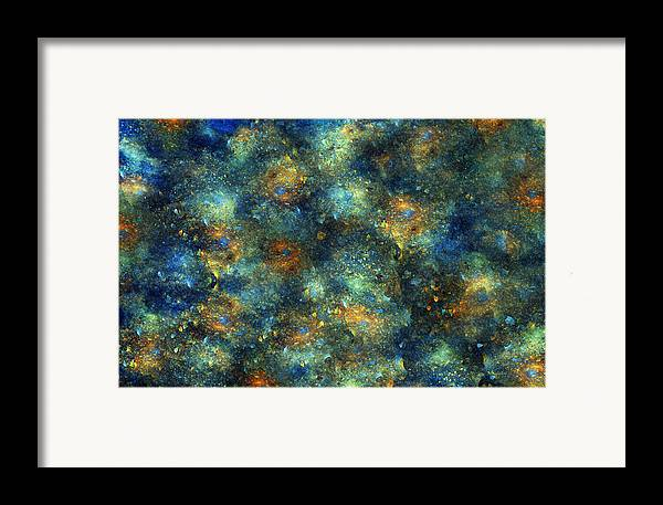 Star Framed Print featuring the digital art Galaxies by Betsy Knapp