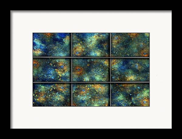 Star Framed Print featuring the digital art Galaxies II by Betsy Knapp