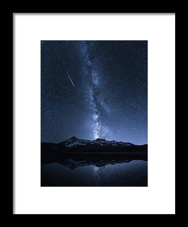 Colorado Framed Print featuring the photograph Galaxies Reflection by Toby Harriman