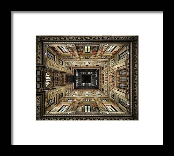 Rom Framed Print featuring the photograph Galleria Sciarra by Renate Reichert
