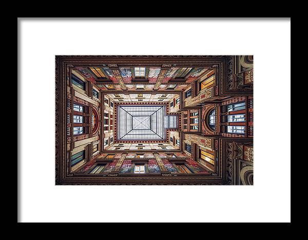 Rome Framed Print featuring the photograph Galleria Sciarra, Rome. by Massimo Cuomo