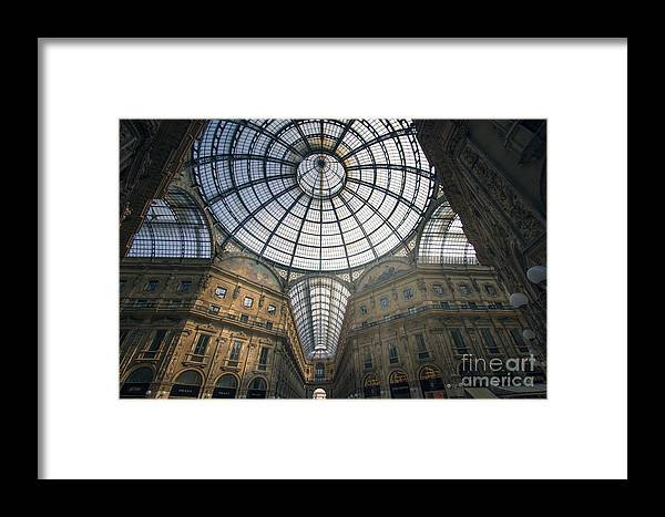 : Galleria Vittorio Emanuele Ii Photographs Framed Print featuring the photograph Galleria Vittorio Emanuele II - Milan by Andrea Busco