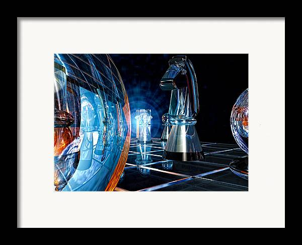 Chess Framed Print featuring the photograph Game Transparent by Bob Orsillo