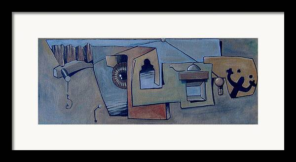 Surreal Framed Print featuring the painting Gancho by Michael Irrizary-Pagan