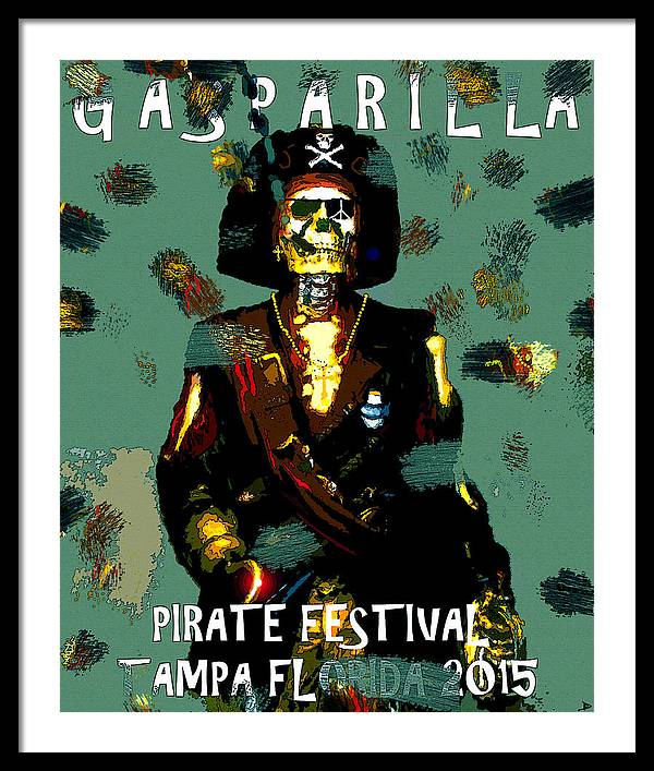 Gasparilla Framed Print featuring the painting Gasparilla Pirate Fest 2015 Full Work by David Lee Thompson