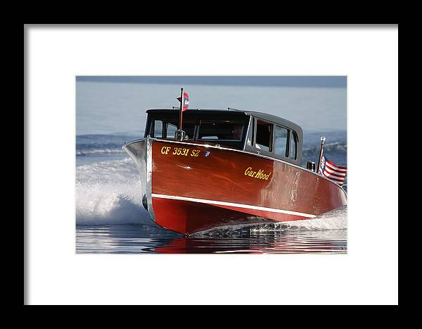 Limosine Framed Print featuring the photograph Gar Wood Limo by Steven Lapkin