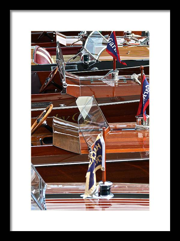 Lake Tahoe Framed Print featuring the photograph Gar Wooden Runabouts by Steven Lapkin