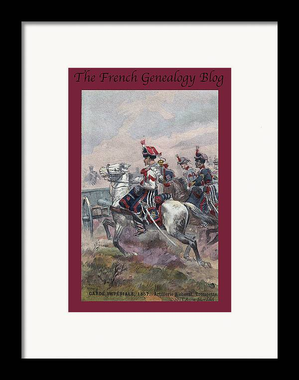 France Framed Print featuring the photograph Garde Imperiale 1857 With Fgb Border by A Morddel