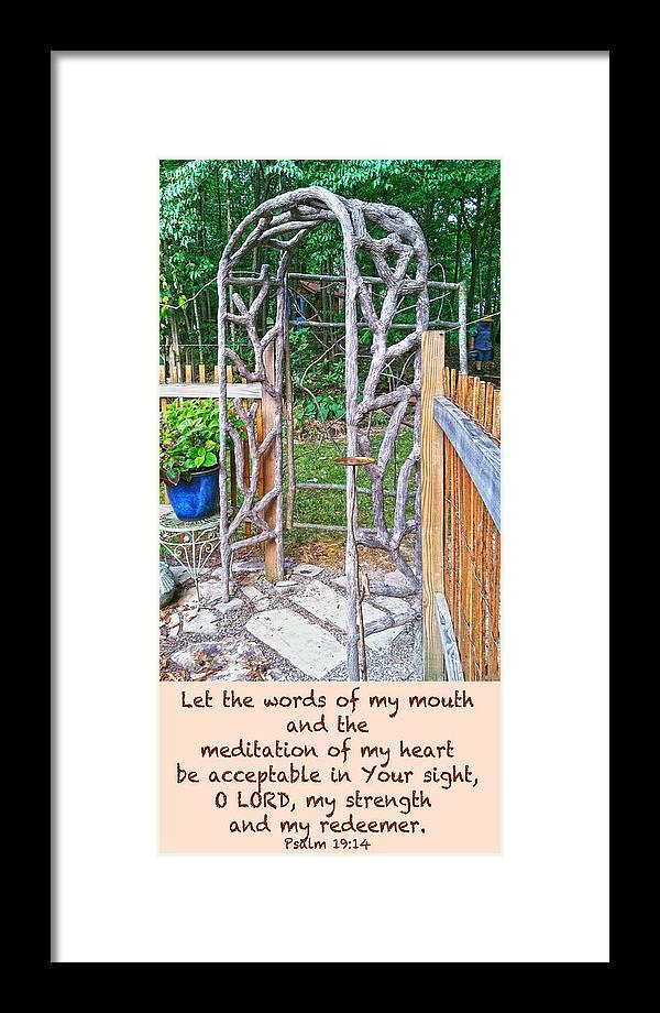 Inspiration Framed Print featuring the photograph Garden At Cheryl's by Cheryl Birkhead