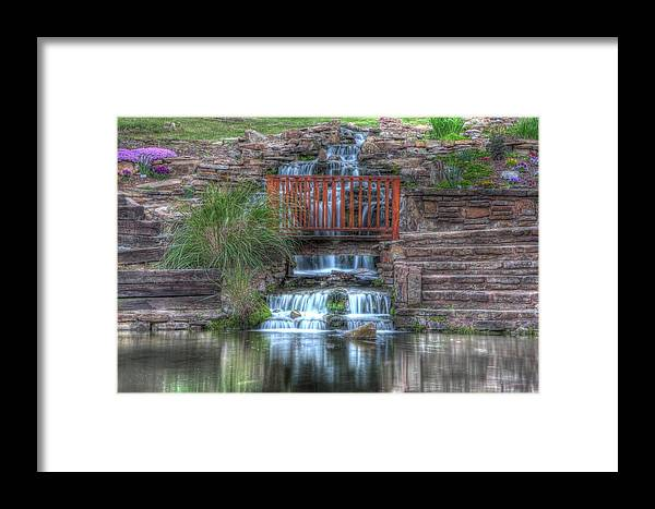 Water Framed Print featuring the photograph Garden Falls by Tony Colvin
