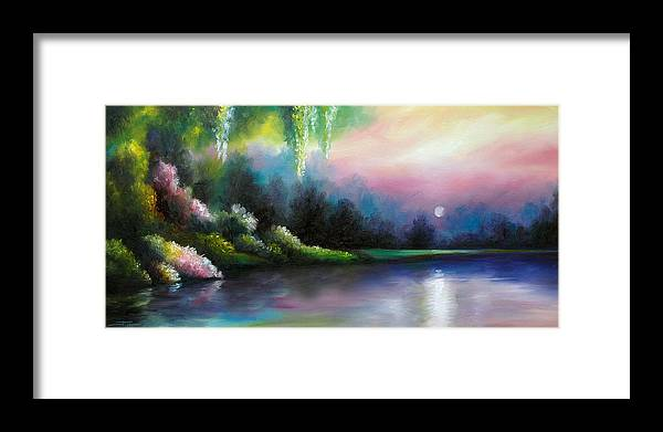 Sunrise Framed Print featuring the painting Garden of Eden I by James Christopher Hill