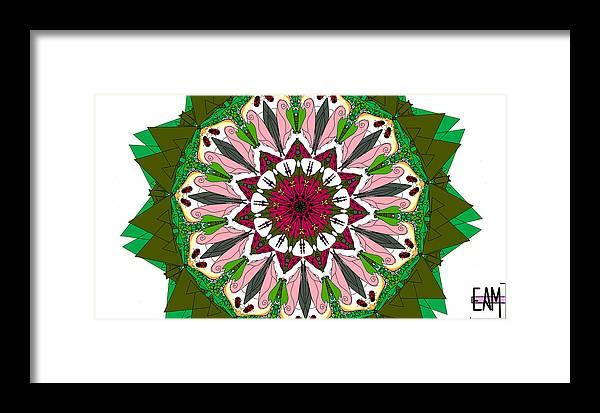 Garden Framed Print featuring the digital art Garden Party by Elizabeth McTaggart