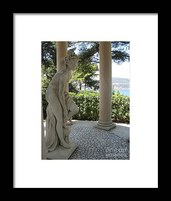Statue Framed Print featuring the photograph Garden Statue I by Christiane Schulze Art And Photography