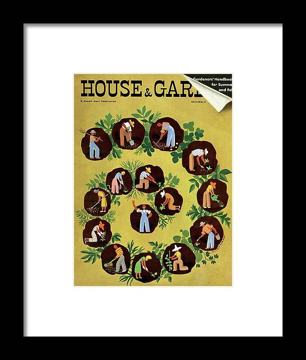 House And Garden Framed Print featuring the photograph Gardeners And Farmers by Witold Gordon