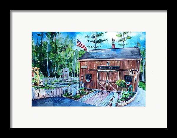 Shed Framed Print featuring the painting Gardening Shed by Scott Nelson