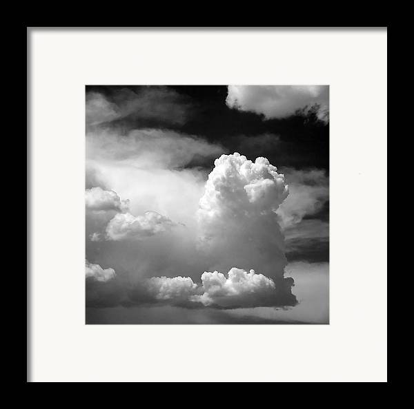 Big Framed Print featuring the photograph Garfield In The Skies by Christine Till