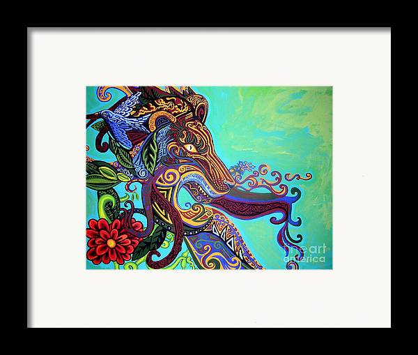 Lion Framed Print featuring the painting Gargoyle Lion 3 by Genevieve Esson