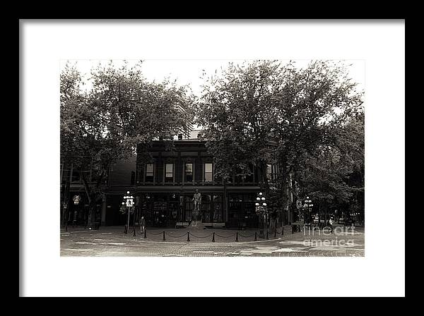 Gassy Jack In Gastown Framed Print featuring the photograph Gassy Jack In Gastown by John Rizzuto
