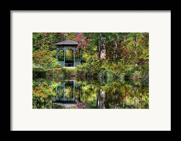 Delaware Framed Print featuring the photograph Gazebo Retreat by John Greim