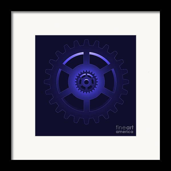 Vector Framed Print featuring the digital art Gear - Cog Wheel by Michal Boubin