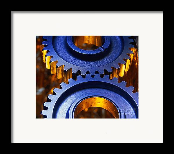 Technology Framed Print featuring the photograph Gears by Terry Why