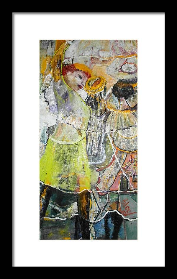 Lady Dancing Framed Print featuring the painting Geneva's Disco by Peggy Blood