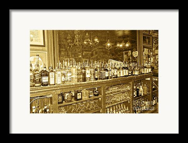 Genoa Bar Framed Print featuring the photograph Genoa Bar Oldest Saloon In Nevada's Old West History by Artist and Photographer Laura Wrede