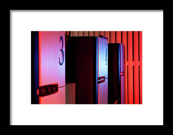 Automated Framed Print featuring the photograph Genome Sequencing Machines by Martin Krzywinski/science Photo Library